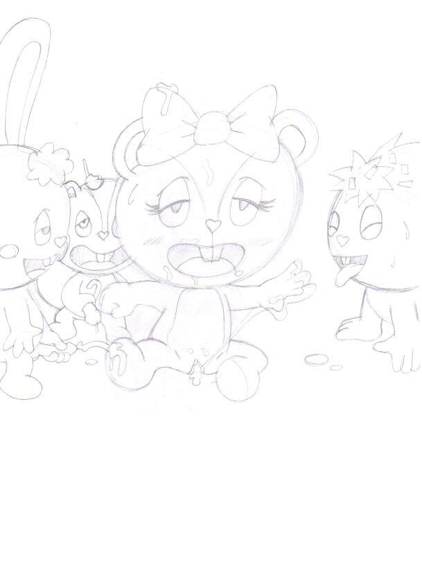 and happy tree petunia friends giggles Cutie honey vs devilman lady