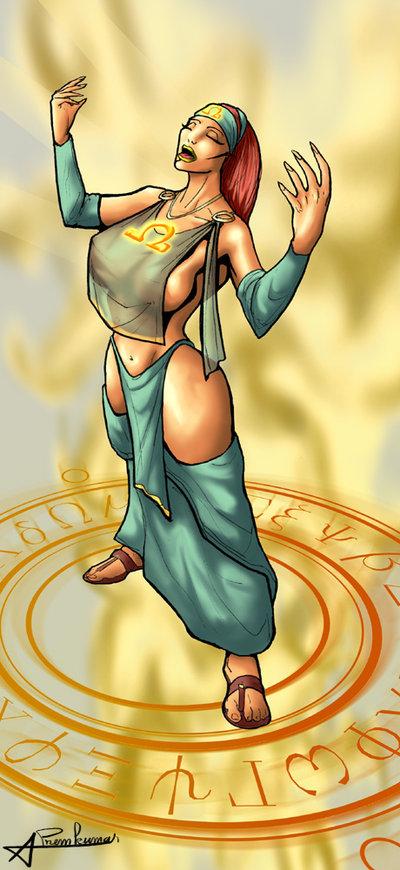 war witch of the god Dragon ball z female goku