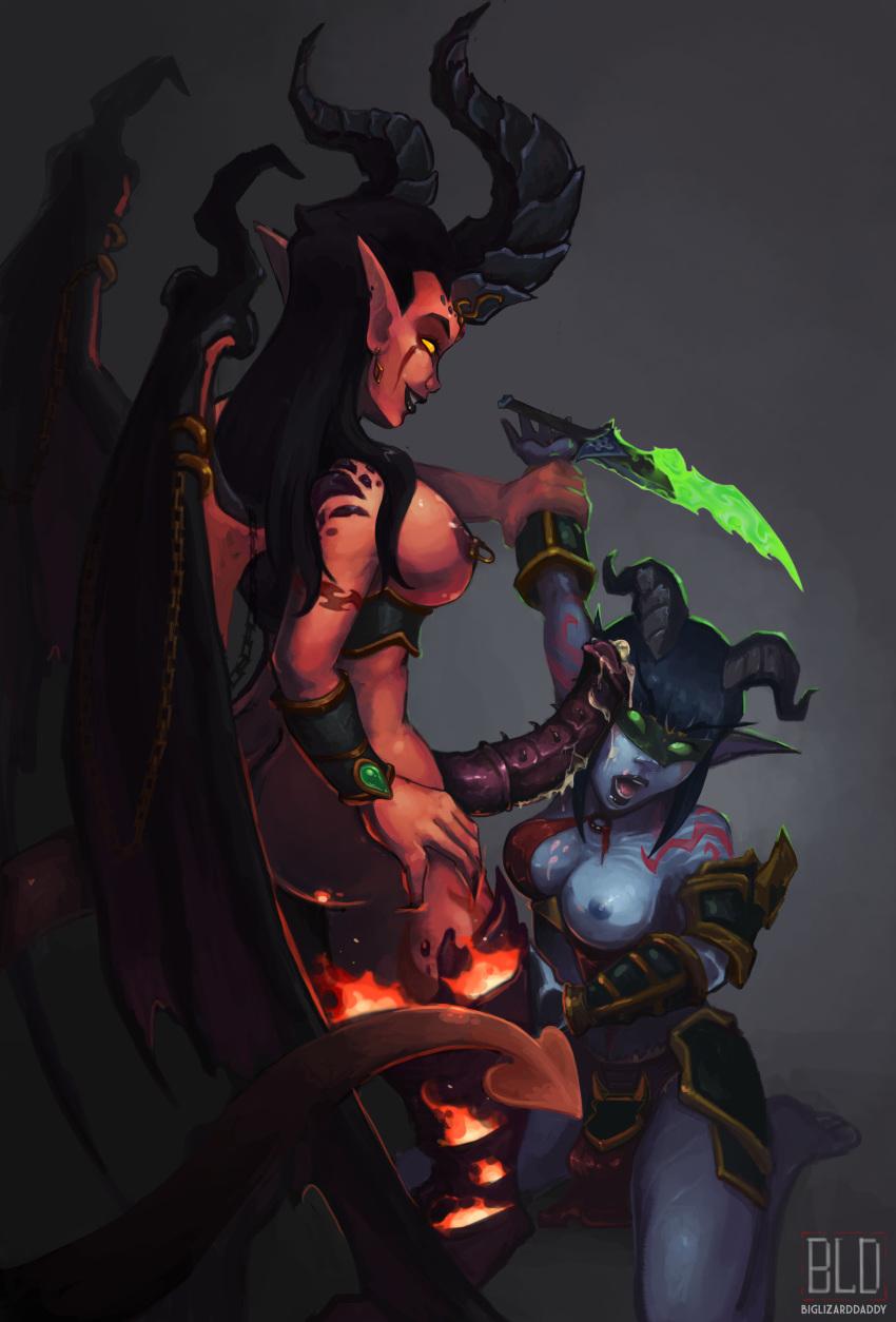 demon hunter female elf night Girl with the dragon tattoo earrings