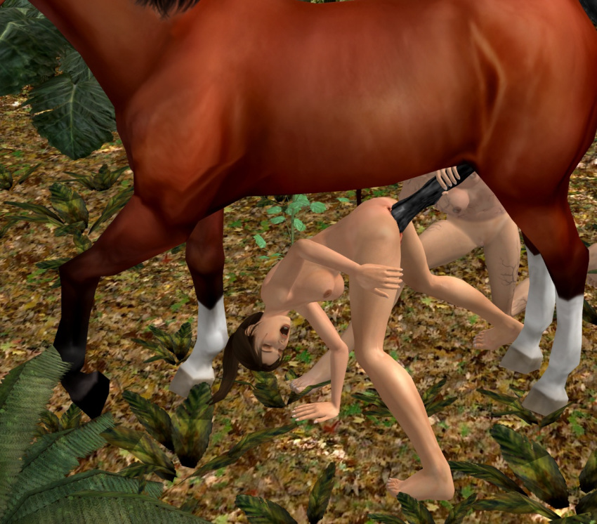 3d horse lara croft and Sex in a bottle comic