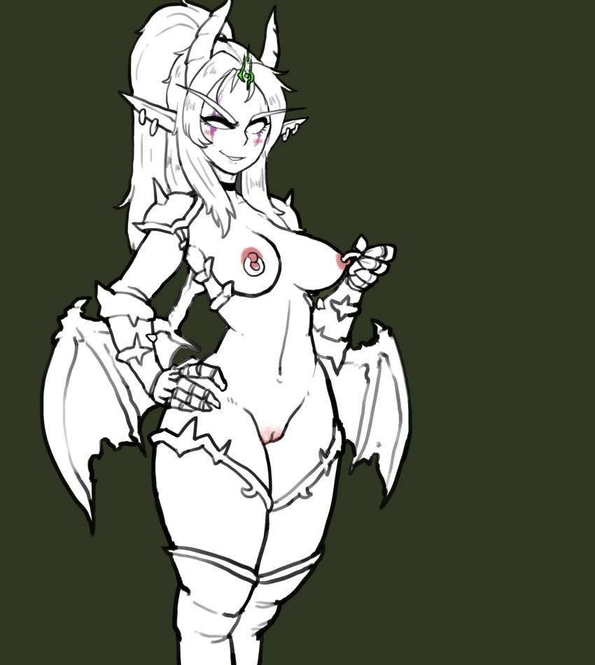 night elf female demon hunter Isekai wa smartphone to tomoni