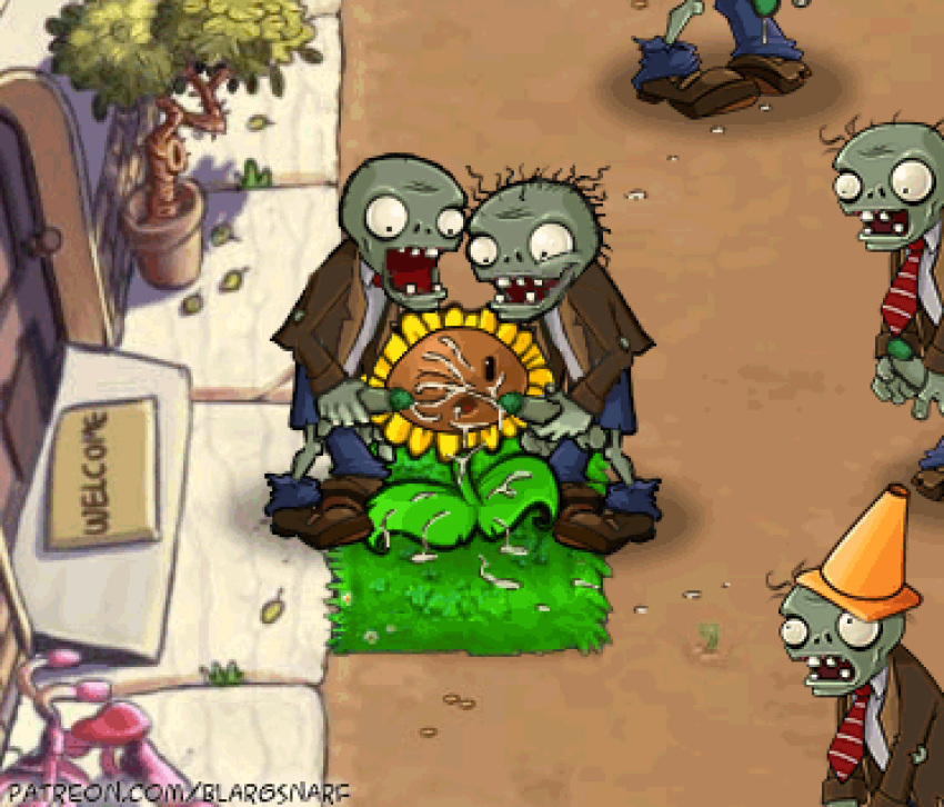 chomper vs 2 zombies plants My mai koakuma na a cup